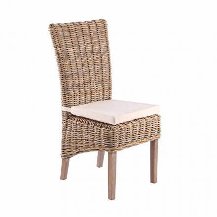Cadeira de madeira para jardim com almofada para exterior - Taffi