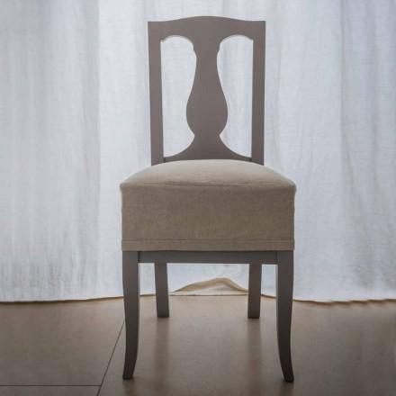 Cadeira em faia lacada de faia made in Italy, Kimberly, 2 pedaços