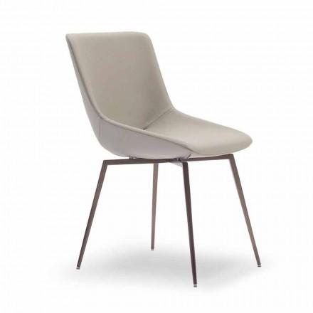 Cadeira de jantar moderna com couro fabricado na Itália - Bonaldo Artika
