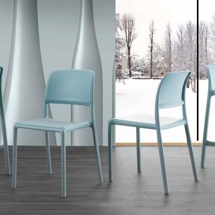Cadeira de design moderno em resina e fibra de vidro, feita na Itália Holiday