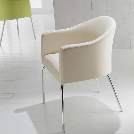 Cadeira de pele sintética design moderno Costello