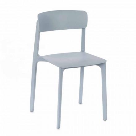 Cadeira Moderna em Polipropileno Colorido Empilhável, 4 Peças - Tierra