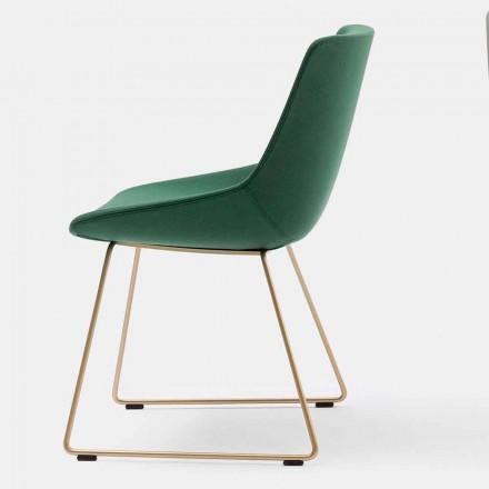 Cadeira moderna de tecido com base de trenó fabricada na Itália - Artika