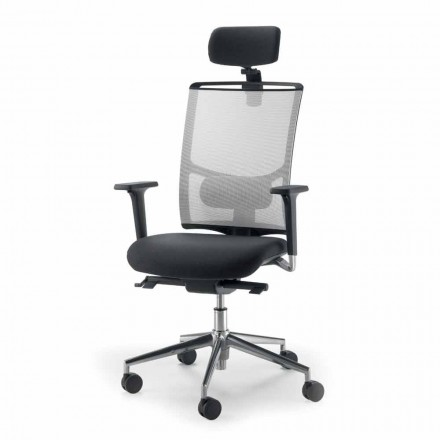 Cadeira operativa e semidirecional feita com tecido na Itália Mina