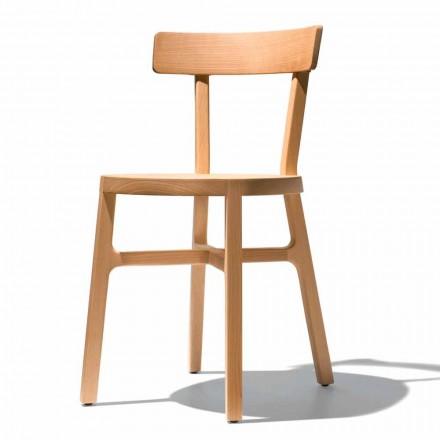 Cadeira para Cozinha ou Sala de Jantar em Faia Maciça Made in Italy - Cima