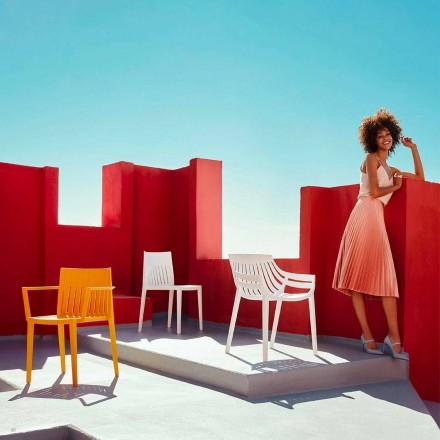Cadeira ao ar livre Spritz by Vondom, em polipropileno e fibra de vidro
