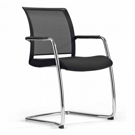 Cadeira para Sala de Congressos em Tecnorete e Fabric, 2 pedaços - Vespasiano