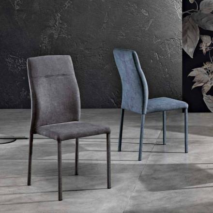Cadeira de design em tecido para sala de jantar feita na Itália, Luigina