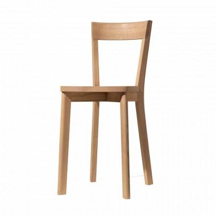 Cadeira Sala de Jantar em Freixo e Madeira Maciça Made in Italy - Alima