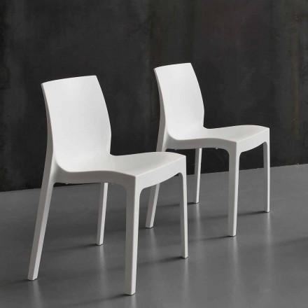 Cozinha / cadeira de jantar moderna em polipropileno, feita na Itália, Imperia