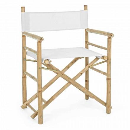 Cadeira de diretor de bambu natural para jardim ao ar livre dobrável - Blumele