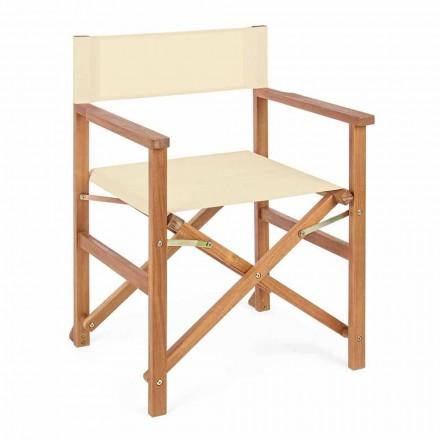 Cadeira Diretor em Madeira Acácia para Design de Exteriores para Jardim - Roxen