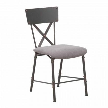 Cadeira de Jantar de Design Industrial em MDF e Metal - Elodie