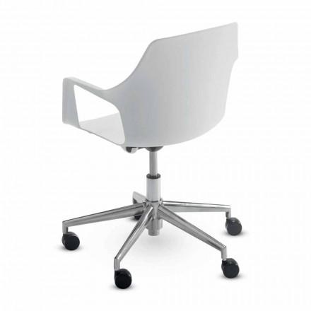 Cadeira de escritório em alumínio e polipropileno fabricada na Itália, 2 peças - Charis