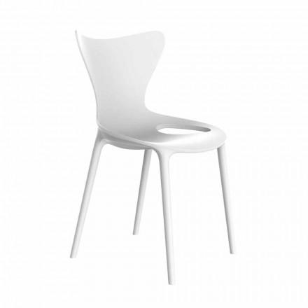 Cadeiras de jardim empilháveis de design em polipropileno 4 peças - Love by Vondom