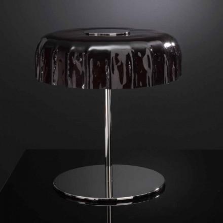 Candeeiro de mesa Selene Big Cap de vidro, feito na Itália, Ø40 A 40cm