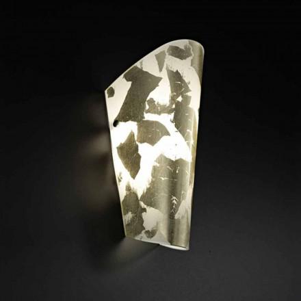 Selene Bloom luz de parede artesanal de vidro 12x11xH28 cm, feita na Itália