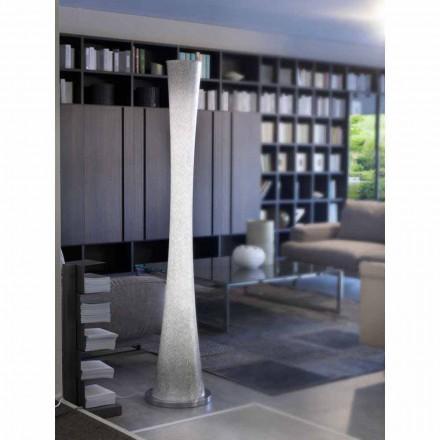 Candeeiro de chão de vidro soprado Selene Clessidra Ø36 H175cm, design moderno