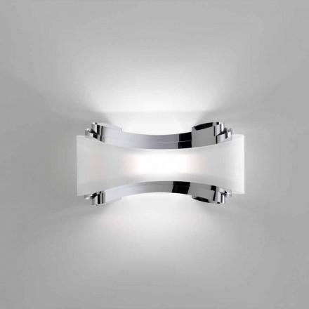 Lâmpada de parede Selene Ionica, feita na Itália, 32x10xH16 cm, design moderno