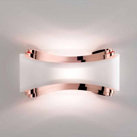 Luminária de parede em aço feito à mão Selene Ionica, 43x12xH20 cm, design moderno
