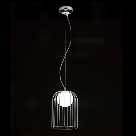 Candeeiro suspenso Selene Kluvi em vidro soprado, Ø19 H 27 / 150cm