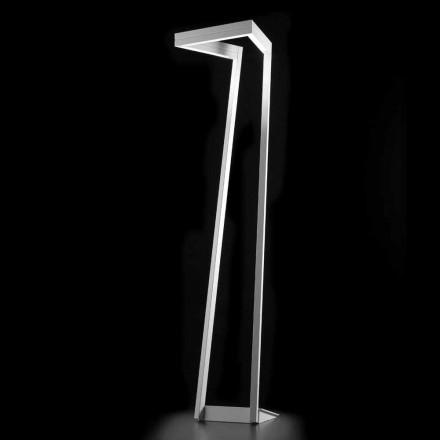 Selene My way lâmpada de assoalho LED branco moderno 40x40, H180 cm, fabricado na Itália