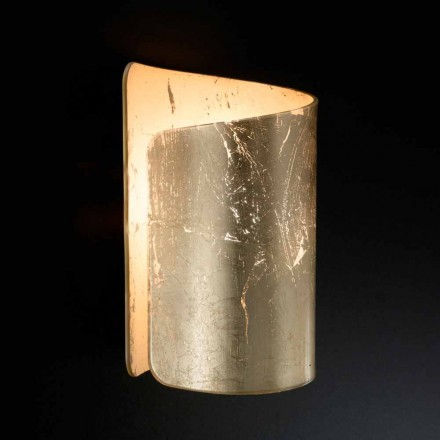 Lâmpada de parede de cristal Selene Papiro, feita na Itália, design contemporâneo