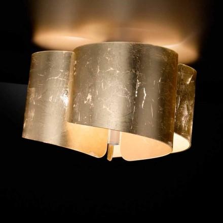 Candeeiro de teto de cristal moderno Selene Papiro, feito na Itália, Ø46 H28cm