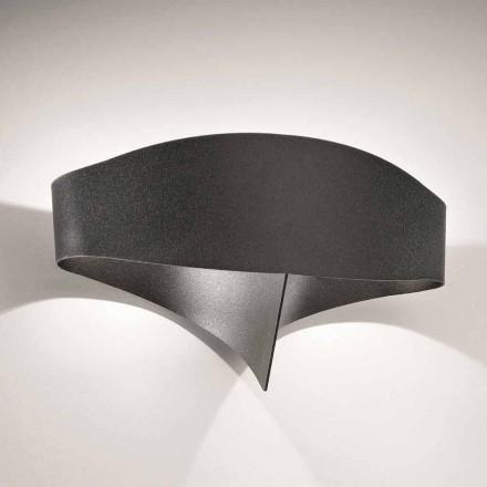 Selene Scudo laser cortou luz de parede de aço, design moderno, feito na Itália