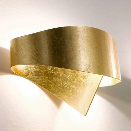 Lâmpada de parede de design moderno Selene Scudo, feita na Itália, 29x15xH16 cm