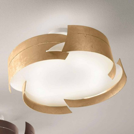Plafon Selene Vultur, Ø59,5 cm fabricado na Itália, design moderno