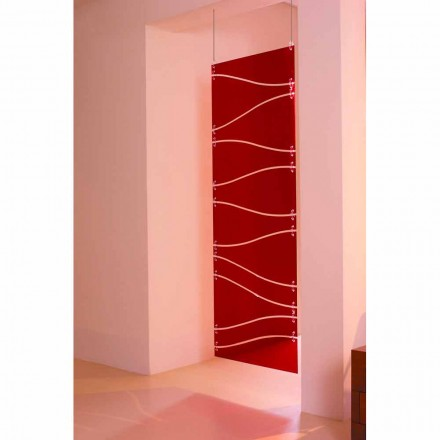 Divisória de parede em metacrilato de parede Blake, vermelha ou acetinada