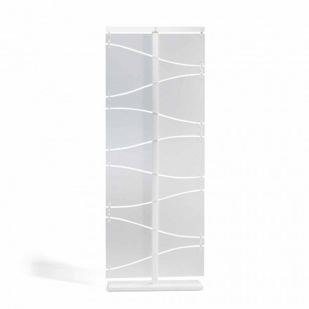 Divisor de quarto de metacrilato de design moderno Mara, acabamento acetinado branco