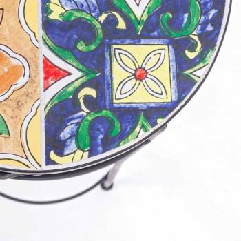 Serviço 3 Mesas Redondas de Jardim em Aço e Decoração - Encantador