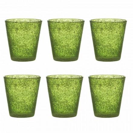 Conjunto de 12 copos de vidro colorido com design moderno - Pumba
