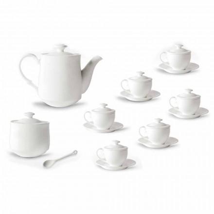 Serviço Completo de Copos de Café 21 Peças em Porcelana Branca - Samantha