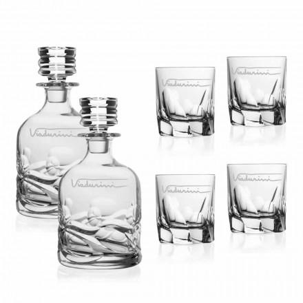 Serviço de Whisky Cristal Ecológico com Logotipo Personalizado - Titânio