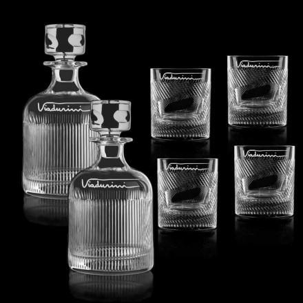 Serviço de Whisky de Cristal Ecológico Personalizável com Logotipo, 6 Peças - Tátil