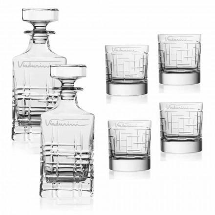 Serviço de Whisky Crystal Eco, personalizável com logotipo, 6 peças - arritmia