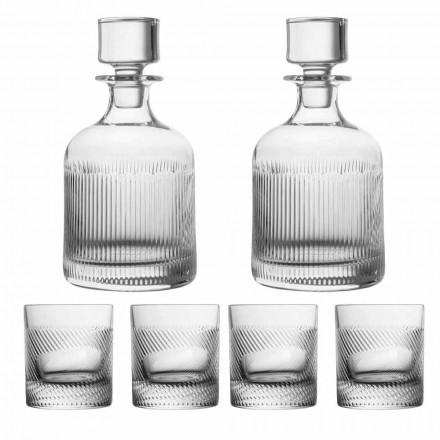 Conjunto de 6 peças de design luxuoso de cristal ecológico para uísque - tátil