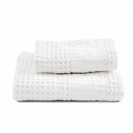 Conjunto Toalhas de Banho em Algodão Honeycomb e Linho Colorido - Turis