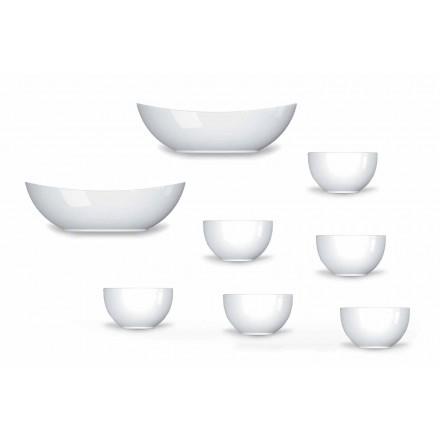 Serviço de Copas e Taças Design Moderno em Porcelana 8 Peças - Telescópio