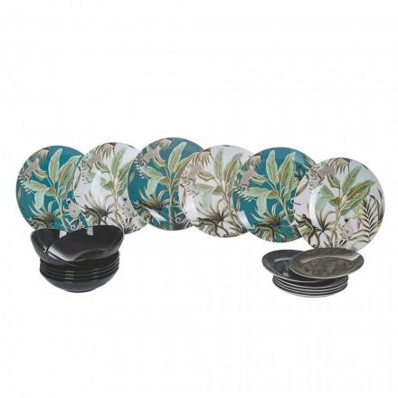 Serviço de porcelana e grés coloridos de louça moderna de 18 peças - Antananarivo