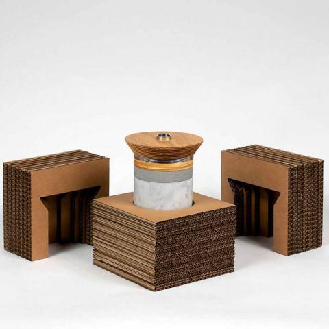 Acessórios para aperitivos para serviço de coquetéis em mármore, madeira, aço - Norman