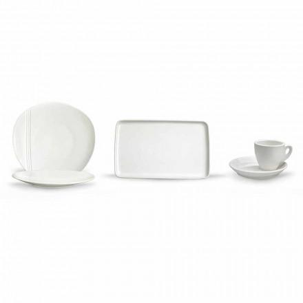 Pratos de aperitivo de porcelana modernos conjunto 36 peças - Nalah