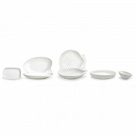 Pratos de Porcelana Branca Conjunto 30 Peças - Nalah