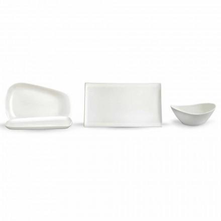 Pratos para Almoço ou Porcelana Moderna 14 Peças - Nalah