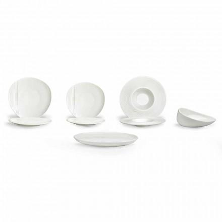 Prato de Porcelana Moderno Conjunto 26 Peças - Nalah