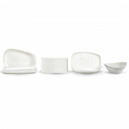 Serviço de pratos em porcelana branca ou jantar - Nalah