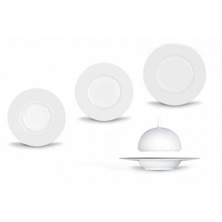 Jantar Moderno e Elegante Conjunto de Jantar em Porcelana 24 Peças - Telescópio